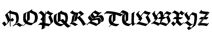 Korger Gothic Font UPPERCASE