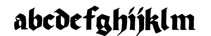 Korger Gothic Font LOWERCASE