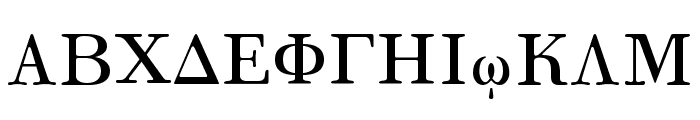 Korinthus Font UPPERCASE