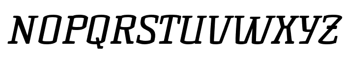 KorneuburgSlabRegular-Italic Font UPPERCASE