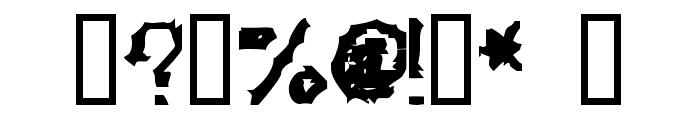 Kozmic Jagged Hands Font OTHER CHARS