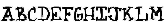 Kozmic Jagged Hands Font UPPERCASE