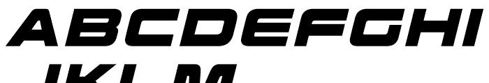 Korataki Extra Bold Italic Font UPPERCASE