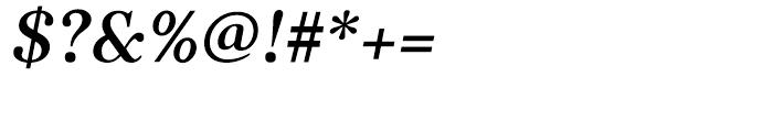 Kostic Serif Medium Italic Font OTHER CHARS