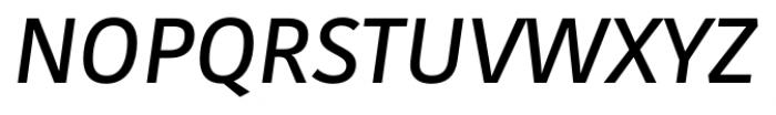 Kohinoor Latin Demi Italic Font UPPERCASE
