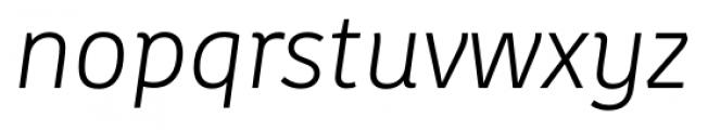 Kohinoor Latin Light Italic Font LOWERCASE