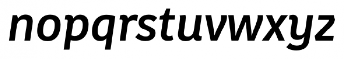 Kohinoor Latin Medium Italic Font LOWERCASE