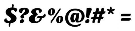 Kopius Black Italic Font OTHER CHARS