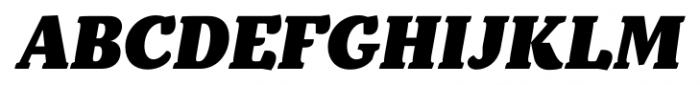 Kopius Black Italic Font UPPERCASE