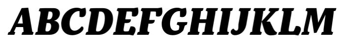 Kopius Extra Bold Italic Font UPPERCASE