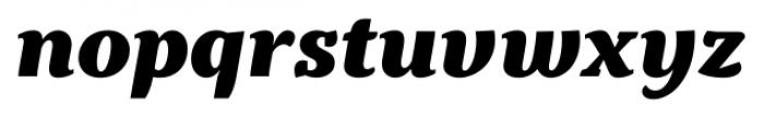 Kopius Extra Bold Italic Font LOWERCASE