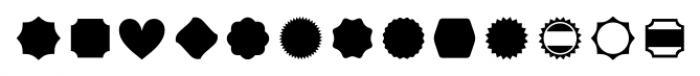 Kopius Extras Labels Font UPPERCASE