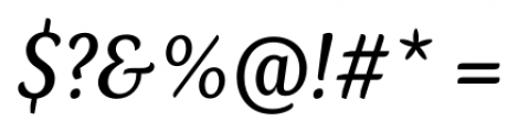 Kopius Italic Font OTHER CHARS