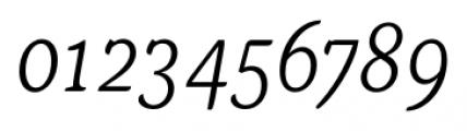 Kopius Light Italic Font OTHER CHARS