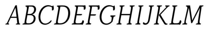 Kopius Light Italic Font UPPERCASE