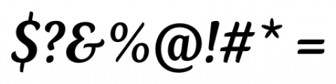 Kopius Semi Bold Italic Font OTHER CHARS