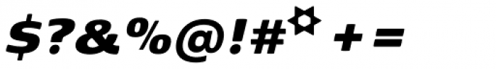 Kobenhavn Black Italic Font OTHER CHARS
