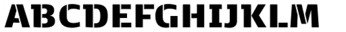 Kobenhavn C Stencil Black Font UPPERCASE