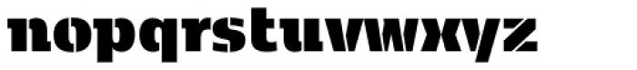 Kobenhavn C Stencil Extra Black Font LOWERCASE