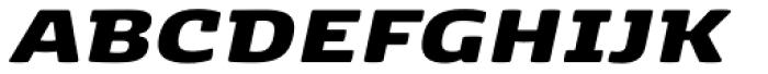 Kobenhavn Extra Black Italic Font UPPERCASE