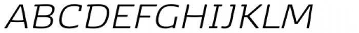 Kobenhavn Light Italic Font UPPERCASE