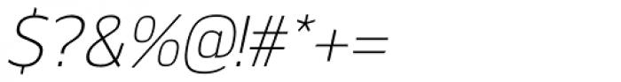 Kobern Light Italic Font OTHER CHARS