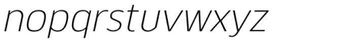 Kobern Light Italic Font LOWERCASE