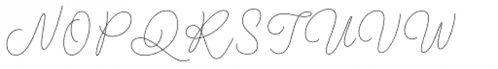Kobold Script Thin Font UPPERCASE
