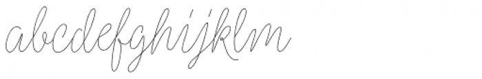 Kobold Script Thin Font LOWERCASE