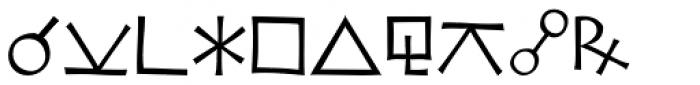 Koch Signs 3 Font UPPERCASE