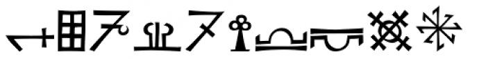 Koch Signs 4 Font UPPERCASE