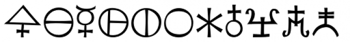 Koch Signs 4 Font LOWERCASE