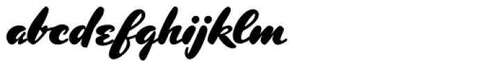Kolinsky Sable Two SG Heavy Font LOWERCASE