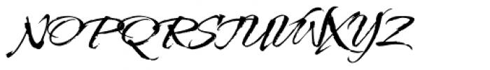 Kolker Brush ROB Font UPPERCASE