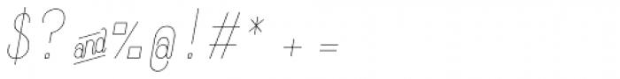 Komela No.1 Italic Font OTHER CHARS