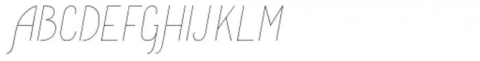 Komela No.1 Italic Font UPPERCASE