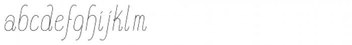 Komela No.1 Italic Font LOWERCASE