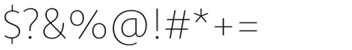 Komet Thin Font OTHER CHARS