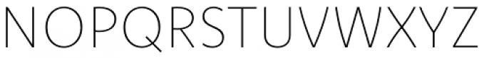 Komet Thin Font UPPERCASE
