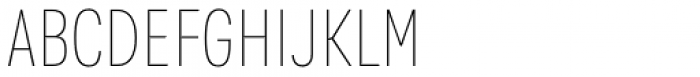 Kommon Grotesk Compressed Thin Font UPPERCASE