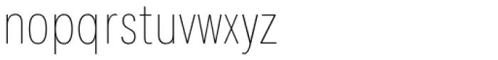 Kommon Grotesk Compressed Thin Font LOWERCASE