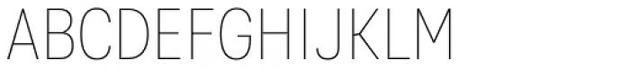 Kommon Grotesk Condensed Thin Font UPPERCASE
