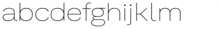 Kommon Grotesk Extended Thin Font LOWERCASE