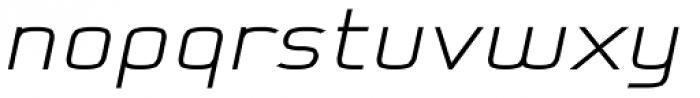 Kompine Expanded Bold Italic Font LOWERCASE