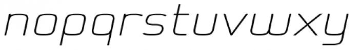Kompine Expanded SemiBold Italic Font LOWERCASE