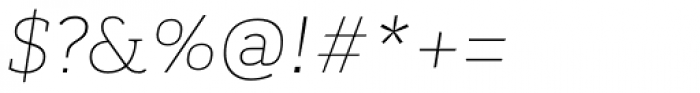 Kondolar Thin Italic Font OTHER CHARS