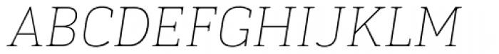 Kondolar Thin Italic Font UPPERCASE