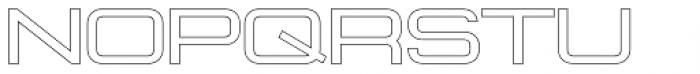 Konexy Light Outline Font UPPERCASE
