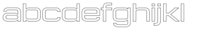 Konexy Light Outline Font LOWERCASE