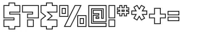 Konstruct Outline Font OTHER CHARS